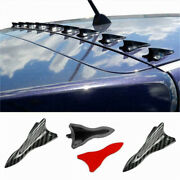 Carbon Style Roof Shark Fin Spoiler Wing Stickers Fit 06-11 Honda Civic Sedan