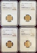 Great Britain 1/2 Sovereign Gold 1895 - 1902 Ngc Lot Of Four 4