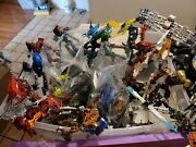 Lot Of Over 30 + Lego Bionicle Figures And Parts Over 15 + Lbs Some Complete