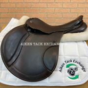 Stubben Roxane Deluxe Jump Saddle 17.5 Seat With Biomex 28 Cm Tree Wool Flocked