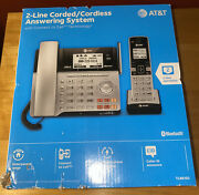 Atandt 2-line Corded +cordless Phone And Answering System Bluetooth - New In Box