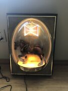 """Budweiser Clydesdale Horse Bubble Dome Lights,works Good Vintage 15"""" X 20"""""""