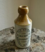 Antique The Star Essex Street Whitstable Mineral Ginger Beer Stoneware Bottle