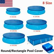 Round Swimming Pool Cover For Intex Bestway Garden Paddling Pools Cover 8 Sizes