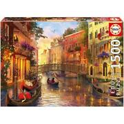 Sunset In Venice Puzzle, 1500 Piece - Educa Free Shipping