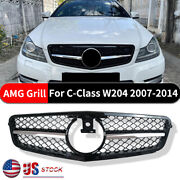 For Mercedes Benz C-class W204 C250 C300 Amg 07-2014 Grill Grille Chrome Silver