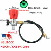 Scba Valve Fill Station W/8mm Quick Disconnect Hose For Air Tank 4500psi M18x1.5