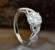 2.5ct Round Cut Twisted White Moissanite Wedding Bridle Ring 925 Sterling Silver
