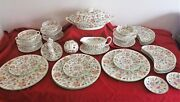Minton Haddon Hall 6 Place Dinner Service In Pristine Condition First Quality
