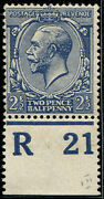 2andfrac12d Sg 373a Variety And039deep Dull Prussian -blueand039 Control And039r21and039p Mint Superb F