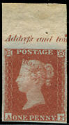 1d Pl.131 And039afand039 Variety On And039thicker Lavender Tinted Paperand039 U/m Top Marginal Wi