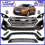 Ford Edge 2015 2016 2017 2018 Front Bumper Cover Kit Complete Oe New Ft4z-17d957