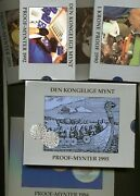 Norway 1990 1991 1992 1993 1994 1995 Proof Year Set In Original Sliding Cases