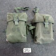 Us Gi M-56 Universal Small Arms Pouch Vietnam Era X2 Matched Up Nice Sm5