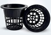 100 Pack - 2 Inch Net Pots Cz All Star Round Heavy Duty Cups Wide Lip Design - O