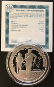 Russia Silver Coin 3 Rubles 2008 Race Walking World Cup+certificate