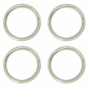 Polished Solid Stainless Steel 15 Trim Rings Set Of 4 Stainless Beauty Rings