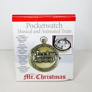 Mr Christmas - Pocketwatch Musical And Animated Train - Clock And Music Box