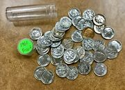 1961 Proof 50 Roosevelt Silver Dimes In A Roll Some W/ Great Toning