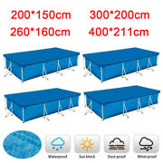 Rectangle Swimming Pool Cover For Intex Bestway Garden Outdoor Family 4 Sizes Us