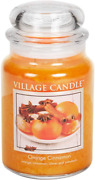 Village Candle Orange Cinnamon Large Glass Apothecary Jar Scented Candle 21.25