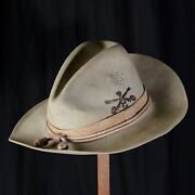 Rare Hat Of Cavalry Stetson Us Army Pattern 1889 Span-am Campaign Hat