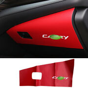 For Toyota Camry 2018-2021 Red Carbon Fiber Leather Co-pilot Glove Boxes Sticker