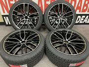 """20"""" Staggered Bmw 3-series 5-series 5x120 Offset +35 Alloy Wheels Tire Package"""