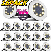 12pack Solar Ground Lights Outdoor Disk Buried Led Lawn Pathway Garden Lights