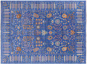 Hand Knotted Turkish Oushak Wool Rug 9and039 3 X 12and039 0 - Q9393