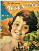 Iand039m Forever Thinking Of You 1919 - Vintage Antique Sheet Music