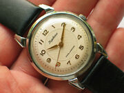 Vintage Soviet Kirovskie Watch Chromed Crab Case Awesome Guilloche Dial - Top