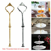 1-5 Set 3 Tiers Cake Plate Cupcake Stand Rack Fittings Handle Rod Wedding Party
