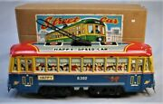 Vintage Tin Friction Street Car - Trolley -- Hadson - Mint In The Box