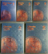 Set Of 5 - Whitman Indian Lincoln Cent Coin Folders 1-4 1857-2014 Album Book