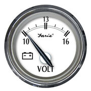 Marine Boat Faria Newport Ss 2 Voltmeter Stainless Steel Volt Gauge - 10 To 16v