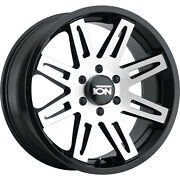 4 - 18x9 Black Machined Wheel Alloy Ion Style 142 6x5.5 0