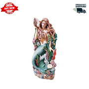 Coastal Decor Wall Sculpture Statue Mermaid Hand-cast Embellished With Detail