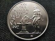 Hungary Xxv. Olympic Games In Barcelona 500 Forint .900 Silver Coin 1989 Bp Bu