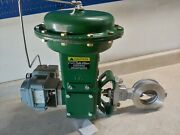 3 150 Ss/ss Hpbv With Fisher Size 33 Actuator And Masoneilan Positioner Sr/fo