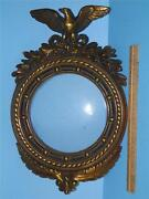 Antique Armor Bronze Federal Eagle Wall Art Picture Mirror Frame 16and039and039 X 10and039and039