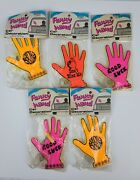 1979 Funny Hands W/ Suction Cup For Rear Car Window Neon Colors New In Package