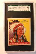 1947-48 Goudey Indian 42 Chief Red Cloud - Sgc-60