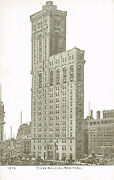 Vintage Times Building New York City Black And White Ipc Postcard 1919 New