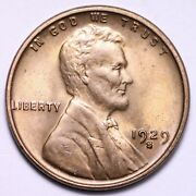 1929-s Lincoln Wheat Cent Penny Choice Bu Free Shipping E635 Acn