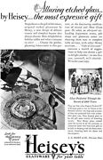 Heisey Etched Glassware Crystal The Most Expressive Gift 1930 Magazine Ad