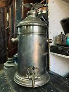 Antique Tavern Thermos With An Eagle Germany Brass 1900s Rare 50 Cm