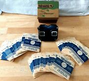 Vintage 1950's Sawyer's Streoscope View-master / Gaf And 71 Reels