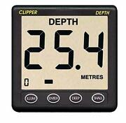 Clipper Depth Instrument W/thru Hull Transducer And Cover 37327