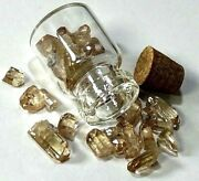 """16.85 Ct. Imperial Topaz Gemstone In Small 1"""" Glass Vile Rough Raw Crystals"""